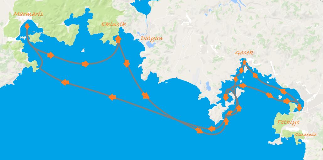 Gulet Sailing Turkey - Marmaris Fethiye Route